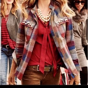CAbi Collage Plaid Light Weight Jacket
